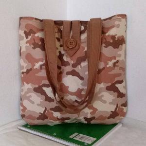 Handmade Bags - Brown Camo Tote Bag